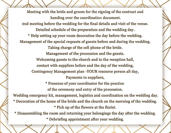 Montreal Day of wedding coordinator