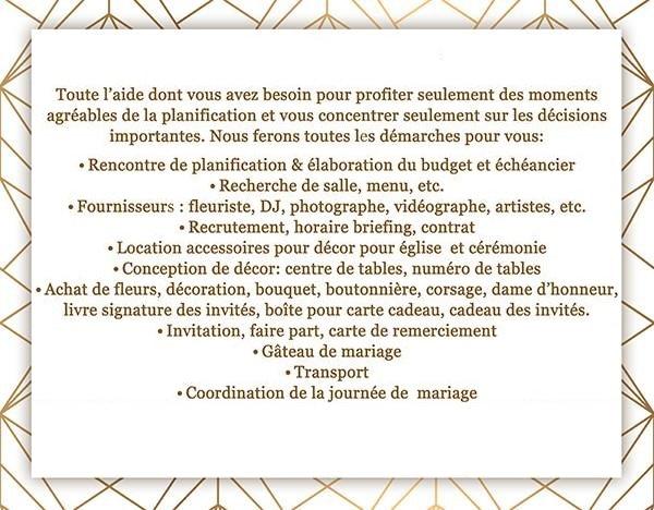 Prix organisatrice de mariage Montréal- Rive sud