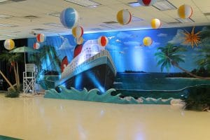 Cruise ship teheme party decoration
